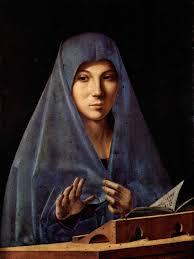 Antonello da Messina, Ritratto dell'Annunciata, Palermo Galleria regionale Palazzo Abatellis