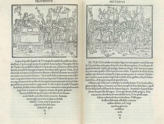 Una pagina della Hypnerotomachia Poliphili di Francesco Colonna (1499)
