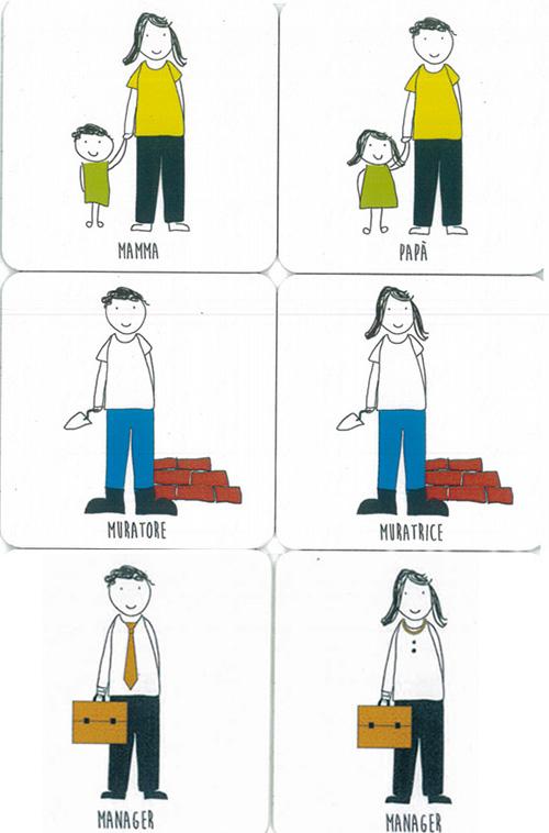 Le tessere del Gioco del rispetto di Trieste, www.giocodelrispetto.org