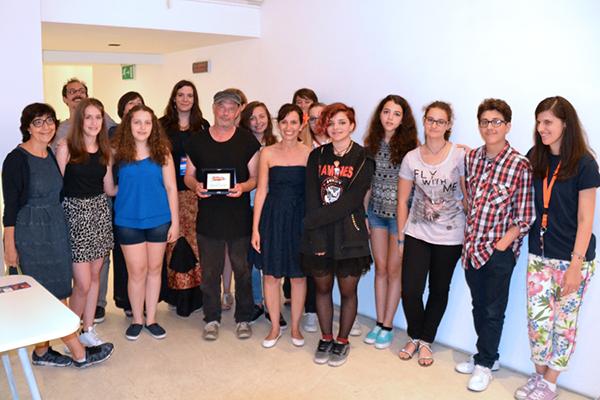 Kevin Brooks riceve il Premio Mare di Libri immagine concessa gentilmente da www.maredilibri.it)