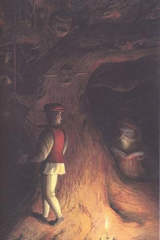 Il fabbro e il diavolo, in Principessa Pel di Topo, Jacob e Wilhelm Grimm, Fabian Negrin - 2012, Donzelli
