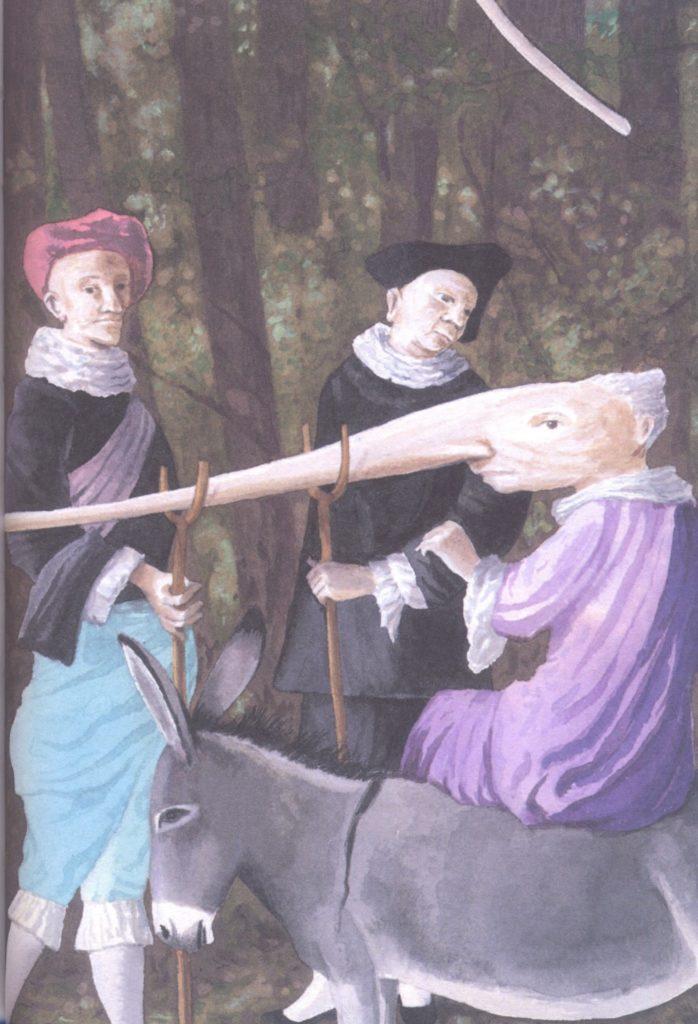 Il Nasone, in Principessa Pel di Topo, Jacob e Wilhelm Grimm, Fabian Negrin - 2012, Donzelli
