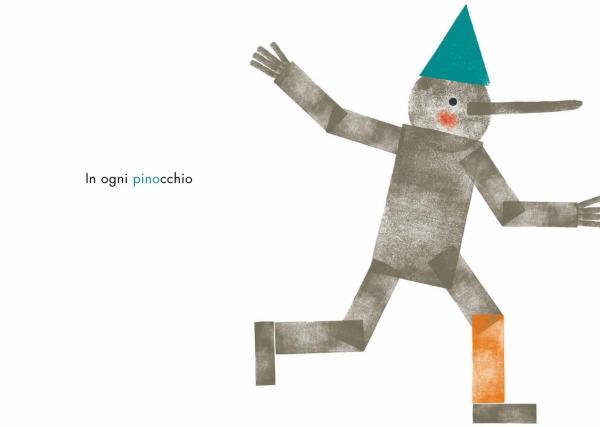 In ogni Pinocchio, testi di Giuseppe Caliceti, illustrazioni di Gaia Stella, Topipittori