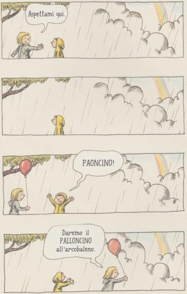 Il sabato è come un palloncino rosso, Liniers, traduzione di Marta Corsi, 2015, Roma.