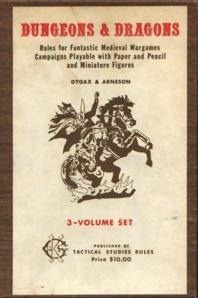 La prima edizione di Dungeons & Dragons, di Gary Gygax e Dave Arneson, gennaio 1974