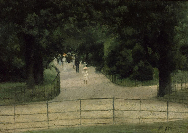 Paul Maitland, The Flower Walk, Kensington Gardens, c.1897