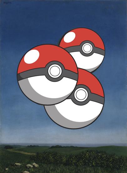 Rielaborazione Pokémon da Magritte, La voce dell'aria (1931)
