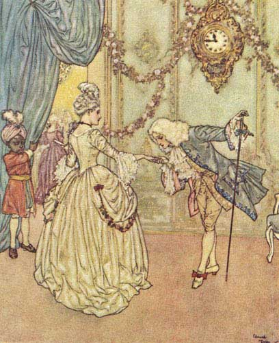 Sir Arthur Quiller-Couch. The Sleeping Beauty and Other Tales From the Old French. Edmund Dulac, illustrator. New York: Hodder & Stoughton, 1910. [Cenerentola]