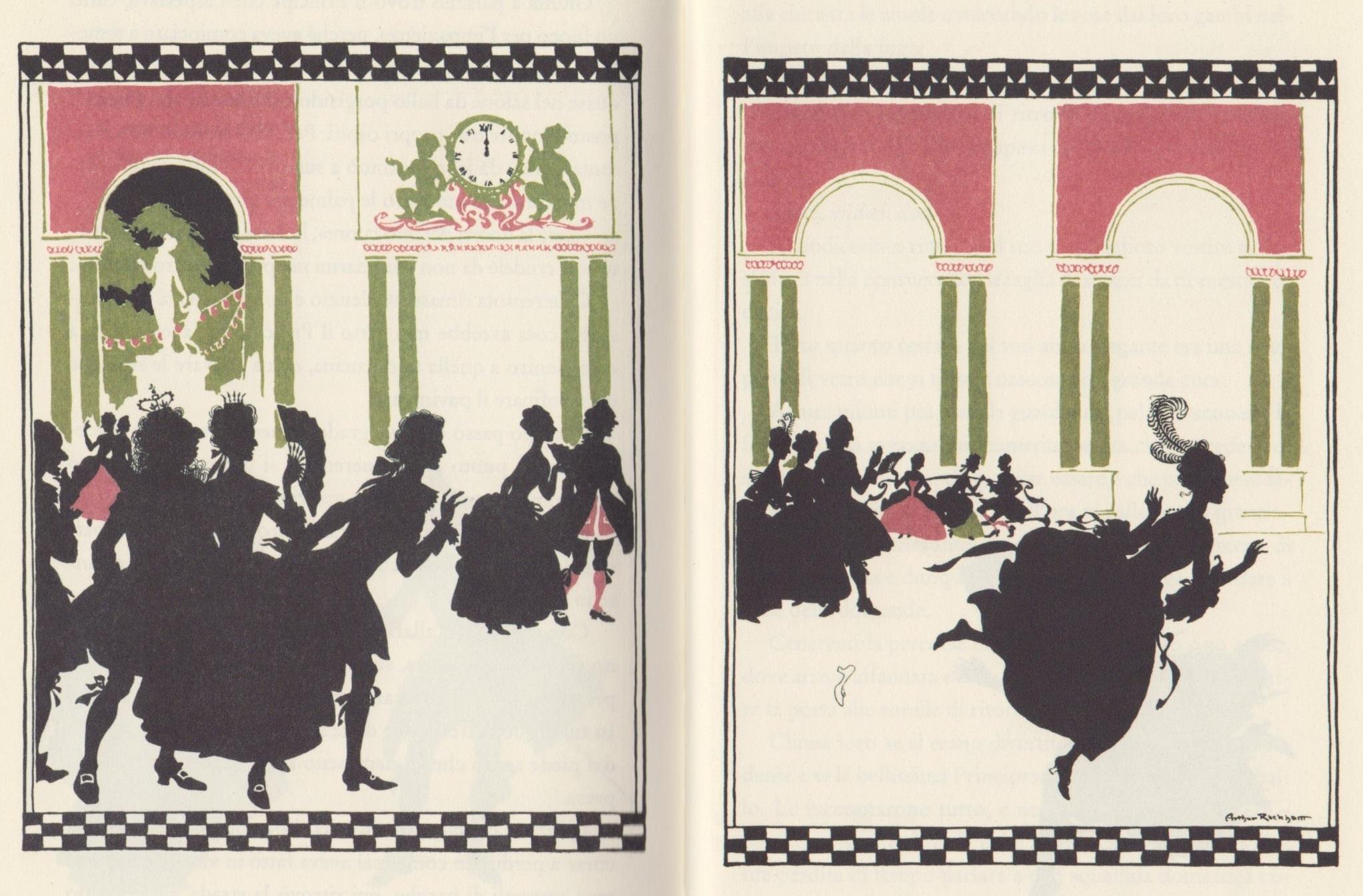 Arthur Rackham 1919, illustrazione per <em>Cenerentola</em> nella versione di Charles Evans - Donzelli 2009