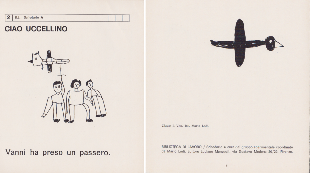 Ciao uccellino, 2 B. L. Schedario A, Mario Lodi e i suoi ragazzi, 1974