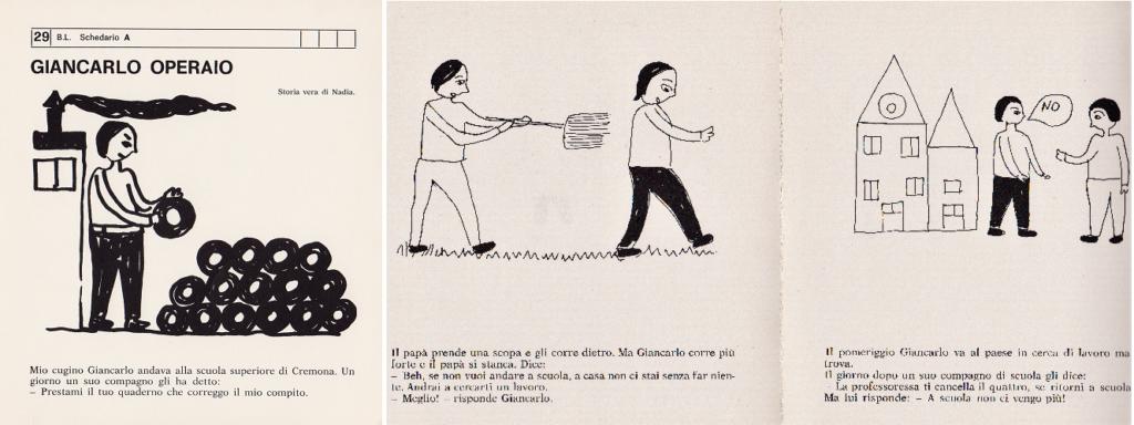 Giancarlo operaio, 29 B. L. Schedario A, Mario Lodi e i suoi ragazzi, 1974