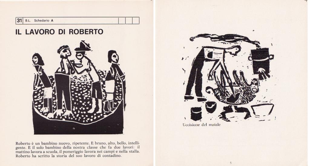 Il lavoro di Roberto, 31 B. L. Schedario A, Mario Lodi e i suoi ragazzi, 1974