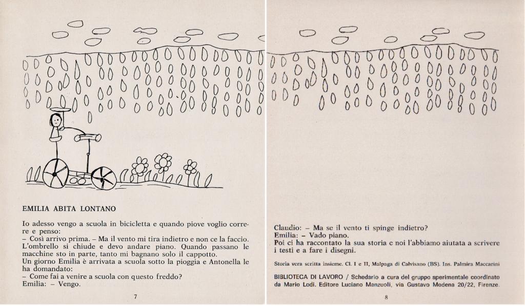La storia di Emilia, 28 B. L. Schedario A, Mario Lodi e i suoi ragazzi, 1974